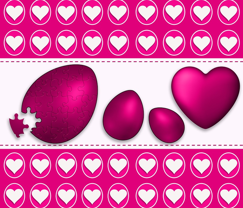 Love, Celebration, Easter, Hearts, Background, Texture