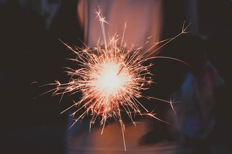 Celebration, Sparkler, Sparks, Fireworks, Light