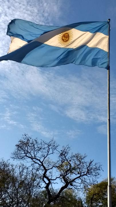 Flag, Argentina, Autumn, Sun, Celeste, Free Image