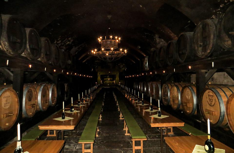 Cellar, Wine, Wine Barrels, Wine Storage, Barrel