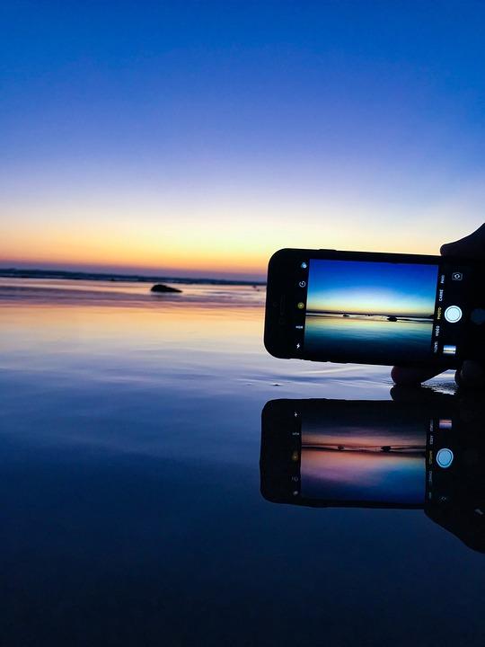 Iphone, Beach, Apple, Cellphone, Phone, Black, Nature
