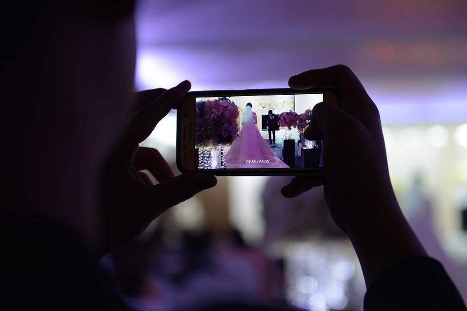 Wedding Ceremony, Cellphone, Wedding
