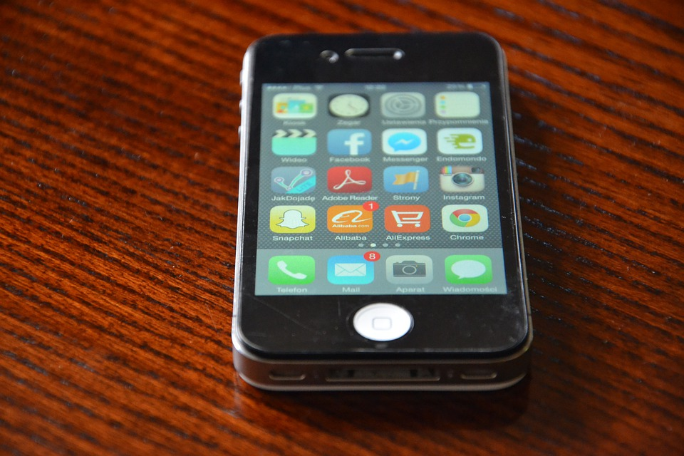 Iphone, Iphone 4, Phone, Black, Cell, Cellular Phone