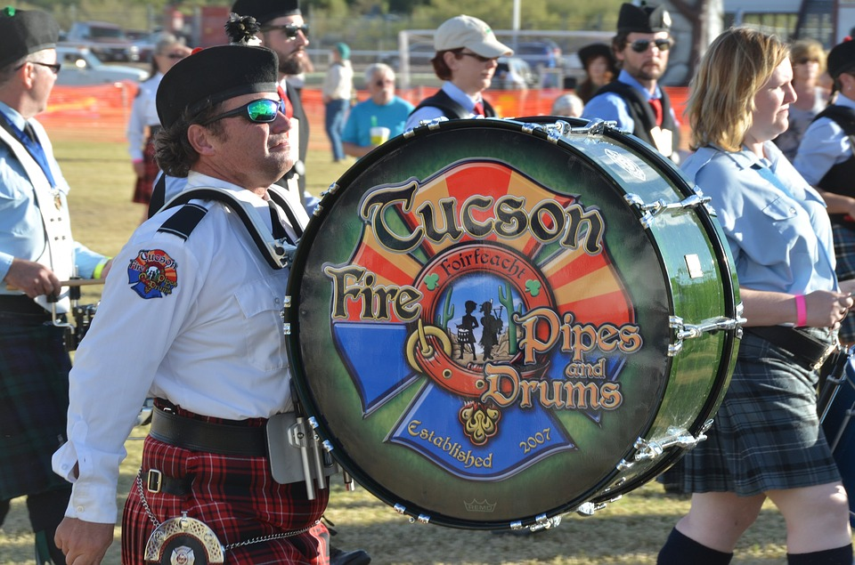 Pipe And Drums, Celtic Festival, Highland Games