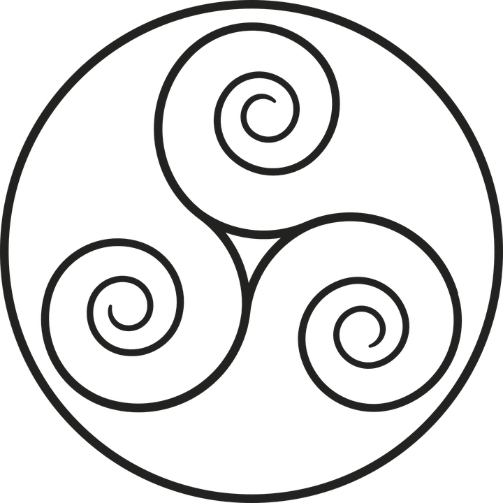Triskelion, Celtic, Middle Ages, Ireland, Brittany