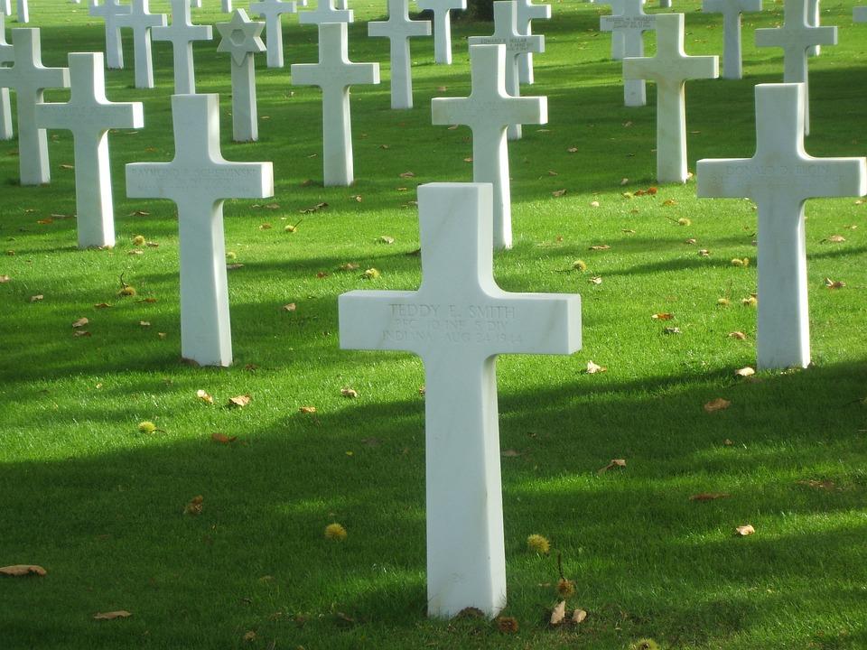 Graves, Cross, Normandy, Battle, War, Cemetery