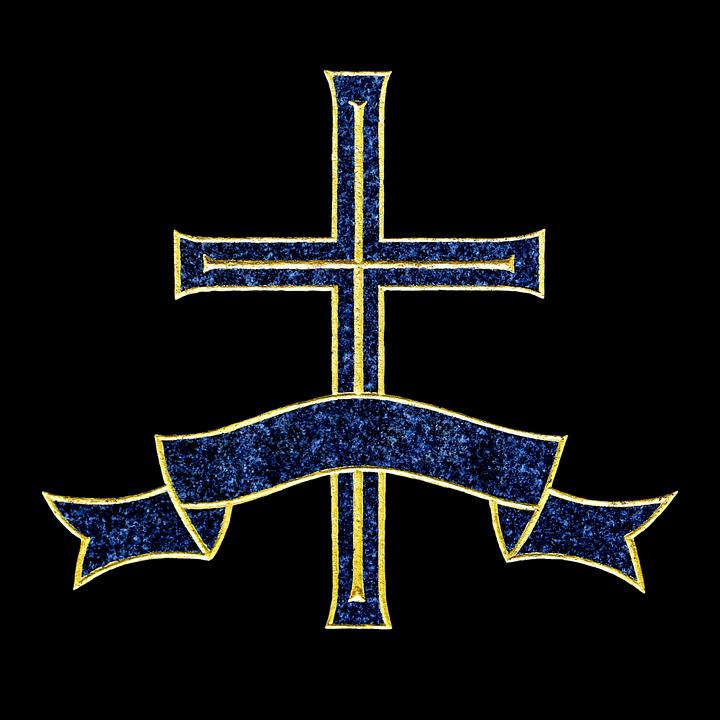 Cross, Banner, Cemetery, Tombstone, Christian, Religion