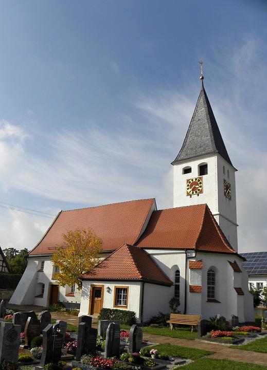 Church, Cemetery, Dornstadt, Heroldstatt