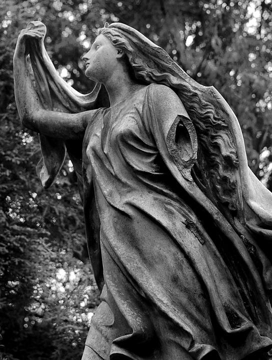 Cemetery, Black White, Broken, Image, Grave