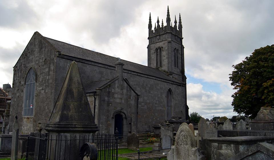 Ireland, Church, Stone, Cemetery, Architecture, Old
