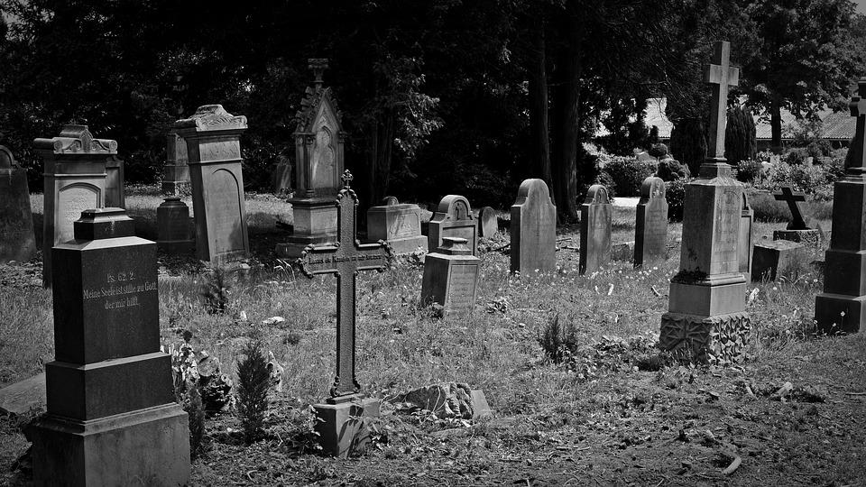 Cemetery, Old Grave Stones, Old Cemetery, Cross, Leave