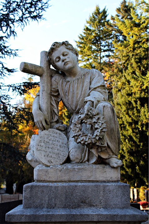 Tomb, Sculpture, Cemetery, Mourning, Tombstone, Stone