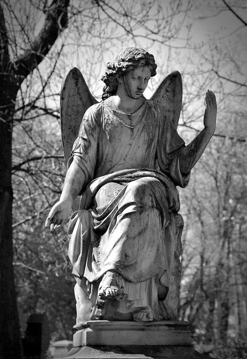 Statue, Cemetery, Sculpture, Angel, Art