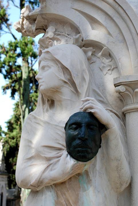 Cemetery, Lisbon, Statue, Tomb, Travel, Tombstone