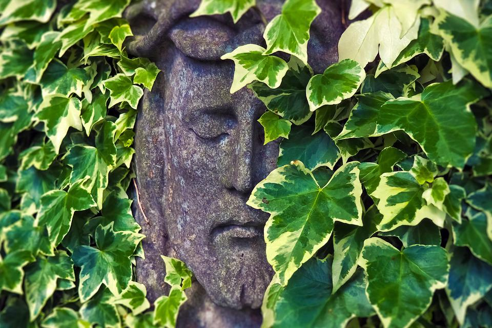 Tombstone, Face, Cemetery, Statue, Mourning, Sculpture