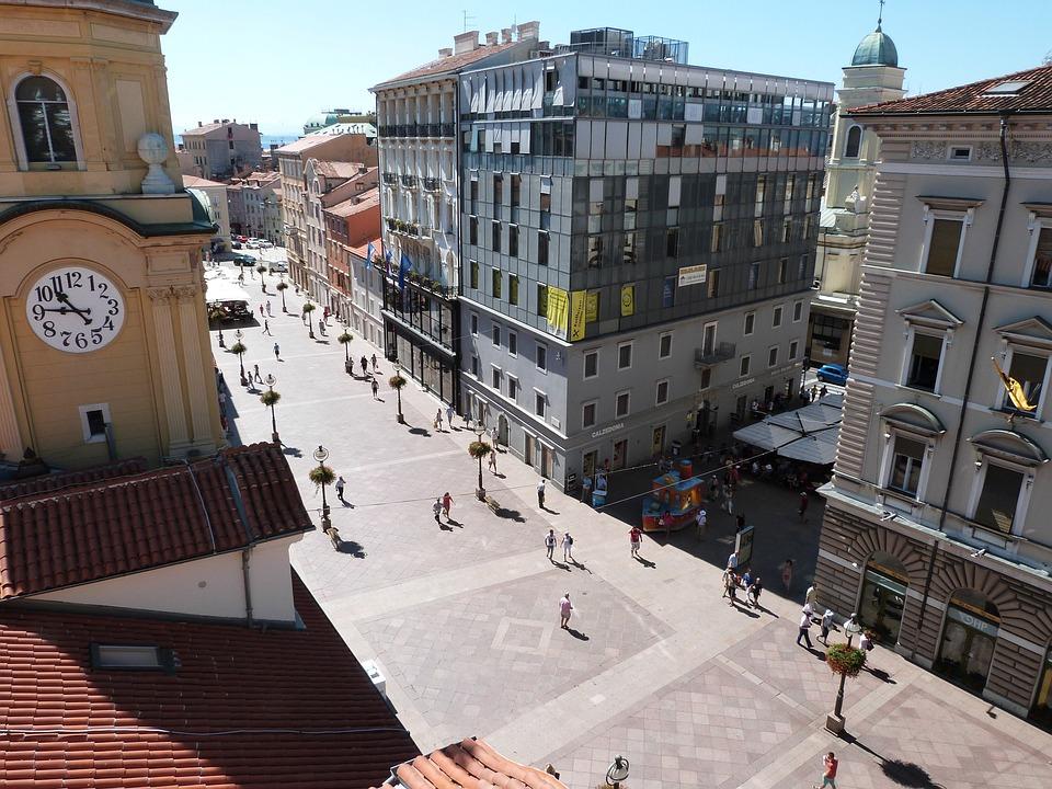 Center, Street, Buildings, Architecture, Building