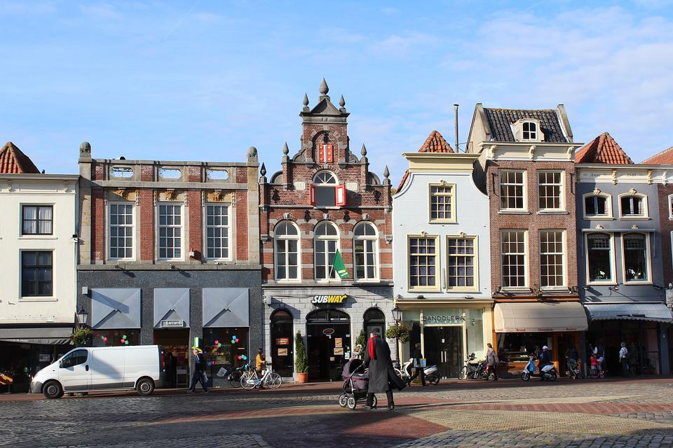 Gouda, City, Market, Center, Facade, Historic Buildings