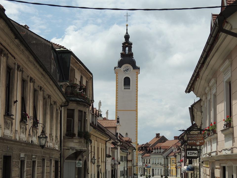 Slovenia, Kamnik, City, Center, Street, Old Town