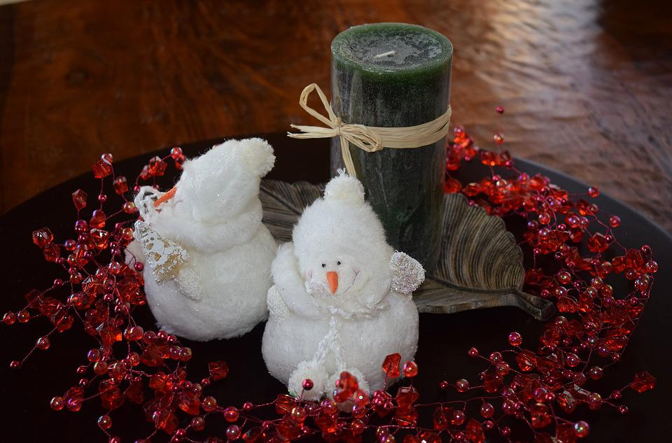 Centerpiece, Candle, Decor, Christmas, Seasonal