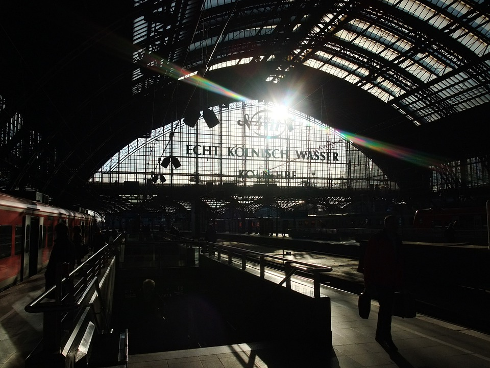 Cologne, Central Station, Back Light