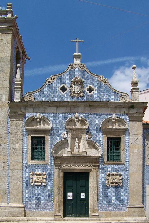 Portugal, Church, Azuleros, Facade, Ceramic