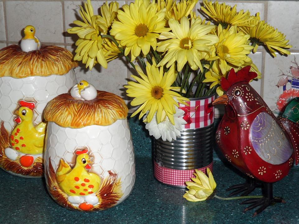 Kitchen, Ceramic, Home, Counter, Decor, Decoration
