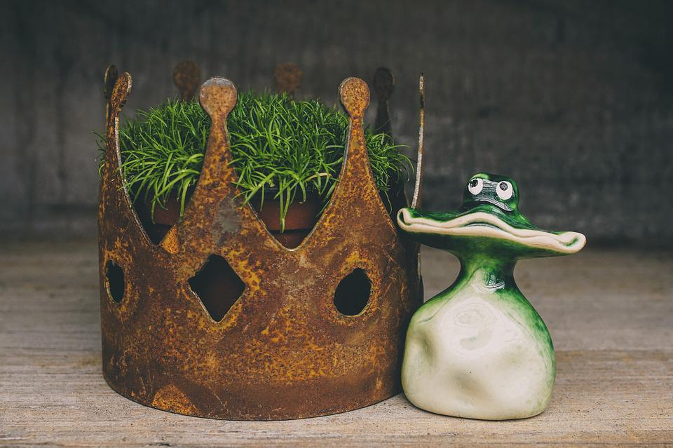 Decoration, Frog, Funny, Figure, Ceramic, Crown