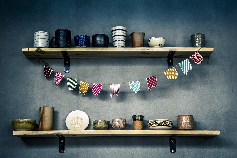 Banner, Bowls, Ceramic, Dishes, Glasses, Glazed