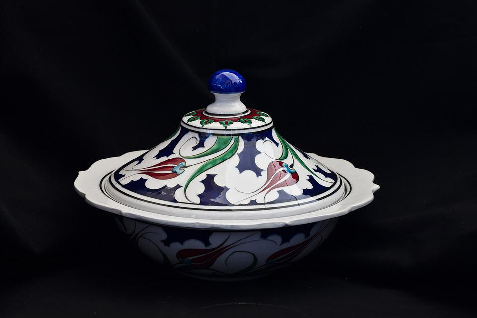 Tile, Handicrafts, Increased, Bowl, Cover, Ceramic