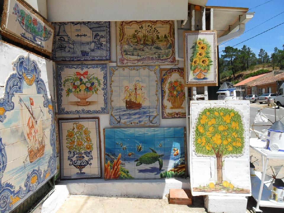 Portugal, Algarve, Ceramic, Painted Flow