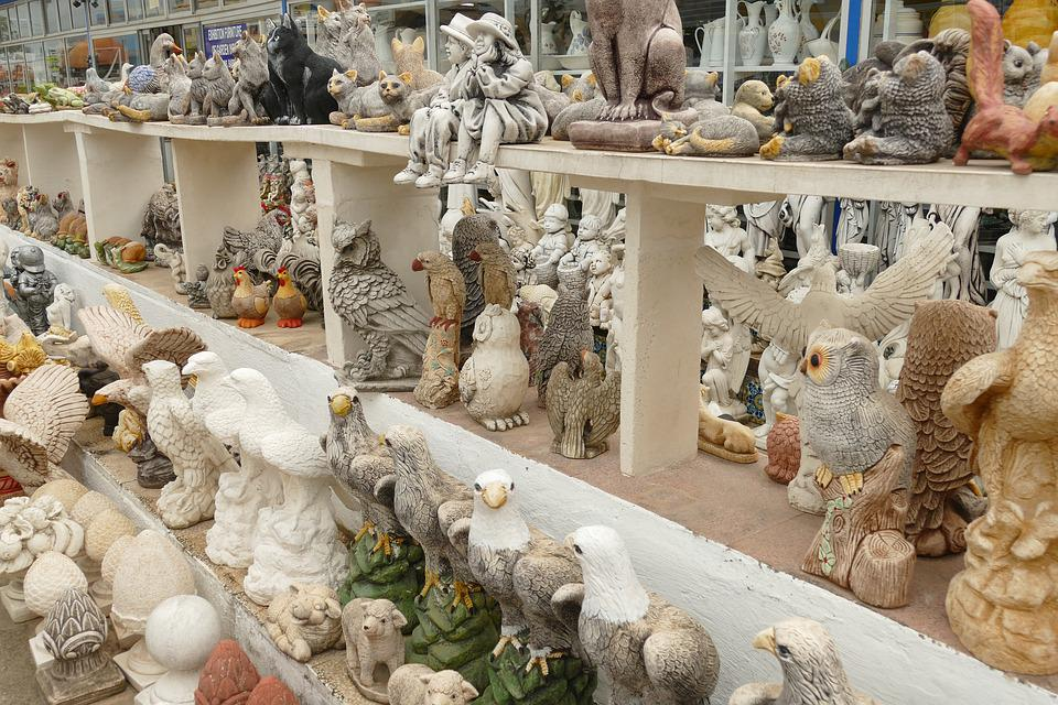 Image, Statue, Figure, Animal, Man, Ceramics, Kitsch