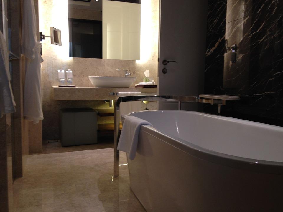 Bathroom, Washroom, Washing, Sink, Bathtub, Ceramics
