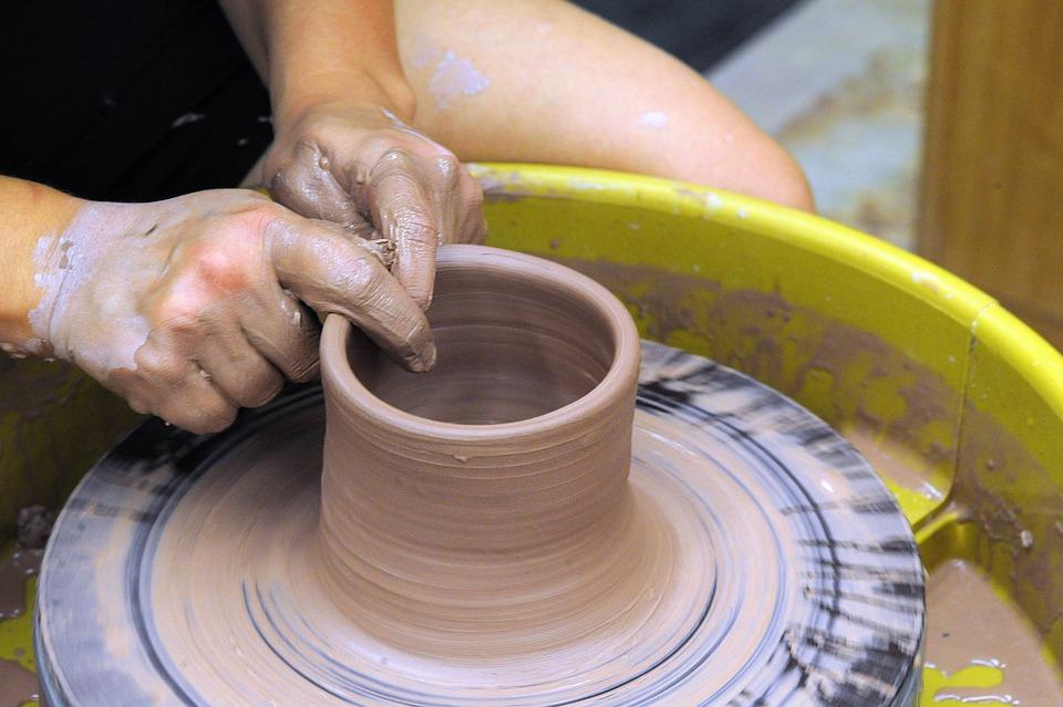 Potters Wheel, Ceramics, Wheel Throwing, Pottery, Clay