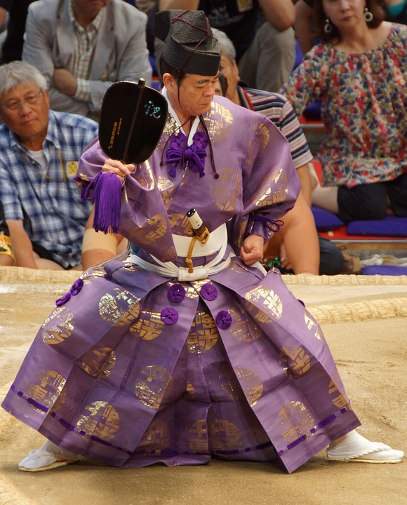 Japan, Ceremony, Ceremonial Dress, Spectators, Fans