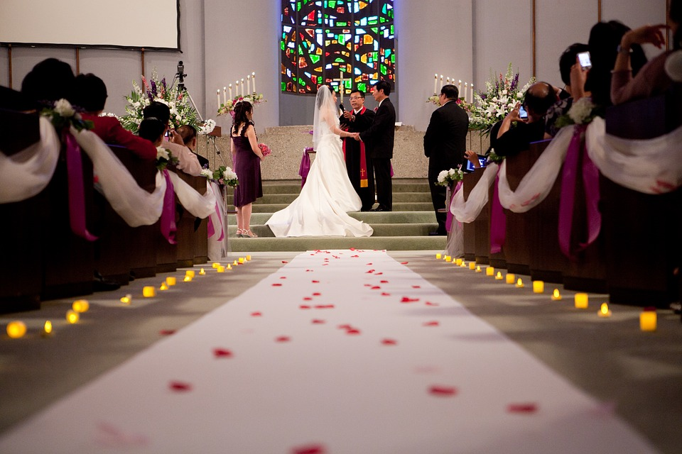 Wedding, Ceremony, Church, Love, Celebration, Marriage