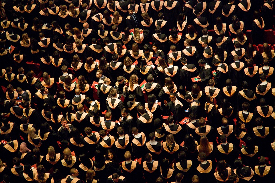 Ceremony, Graduates, Graduation, People