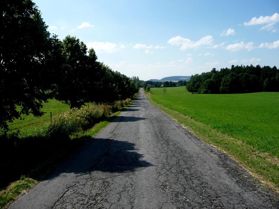 Landscape, Cet, Road, Green, Forests, Nature, Sky
