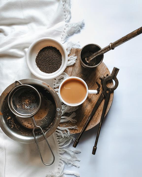 Cup, Mug, Chai, Tea, Tools, Flat Lay