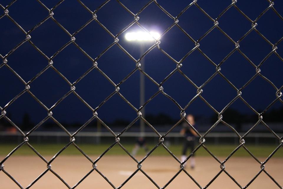 Baseball, Fence, Chain, Link, Chain Link, Field, Sport
