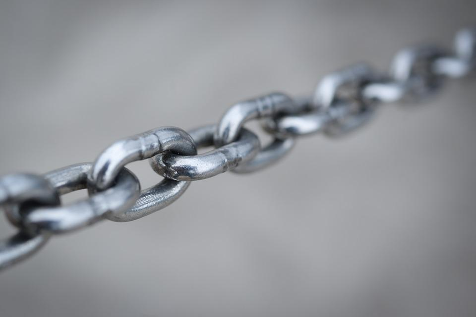 Chain, Shiny, Strong, Steel, Safe, Secure, Connection