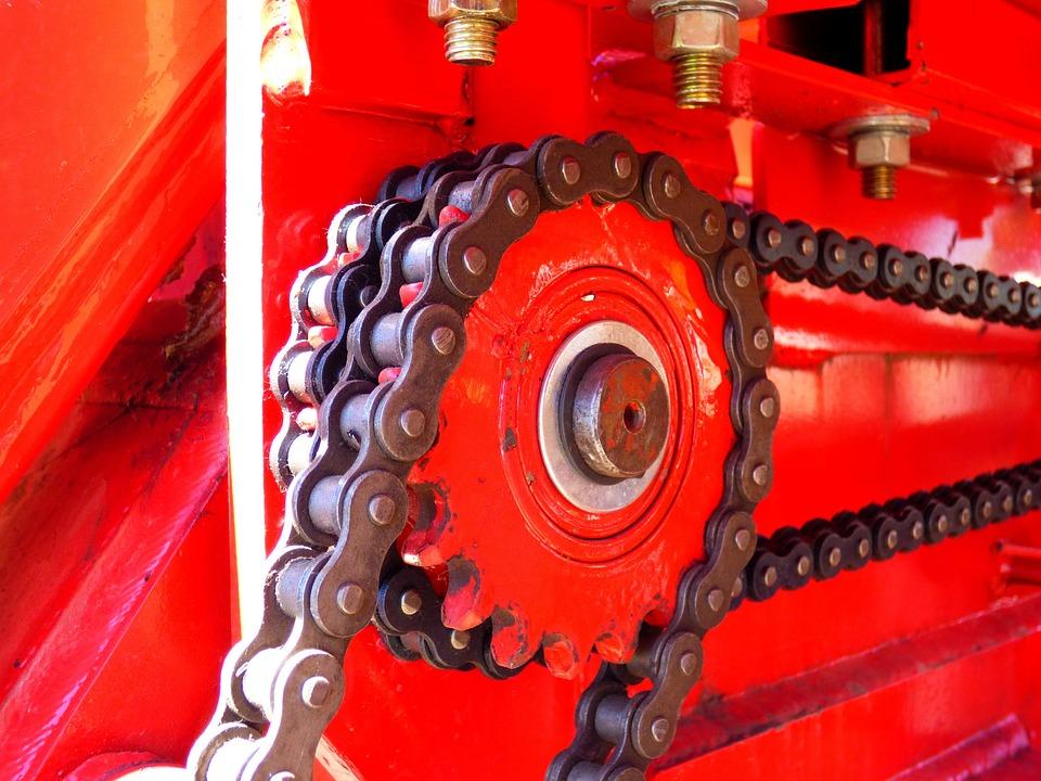 Chains, Pinion, Links, Farm Equipment
