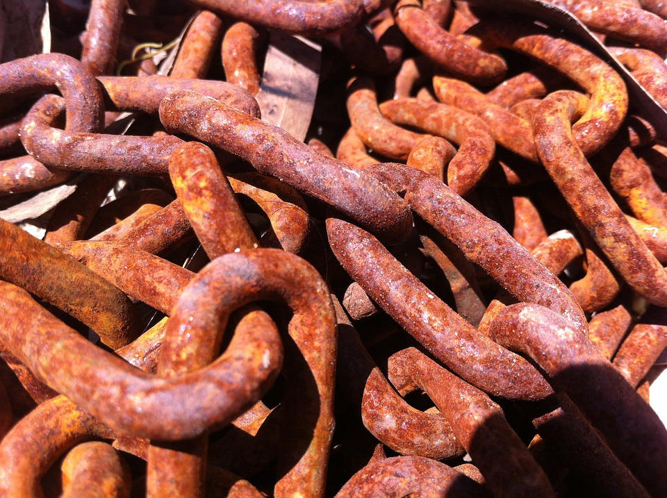 Chains, Anchor Chains, Rusty, Old, Iron Chains