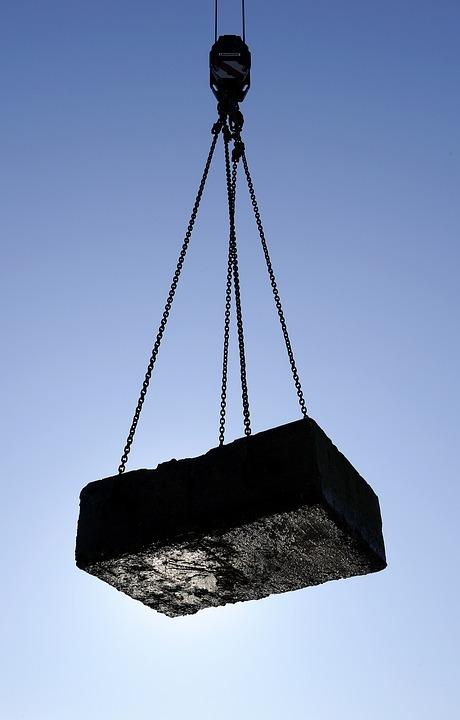Weight, Last, Raise, Crane, Concrete, Chains, Hard