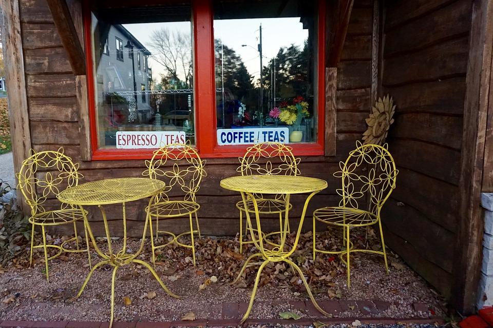 Cafe, Coffee Shop, Tea Shop, Table, Chair, Casual