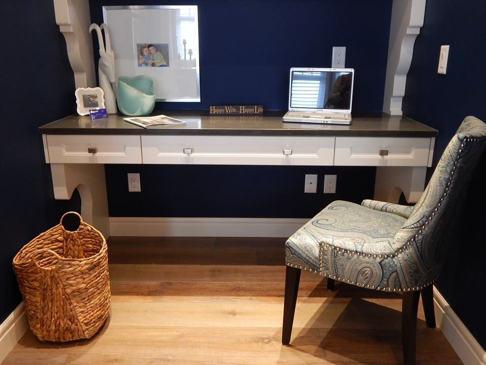 Home Office, Office, Desk, Chair, Workspace