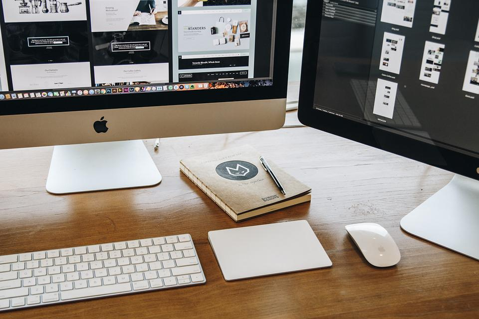 Table Chair Desk Lamp Room Office Laptop Macbook
