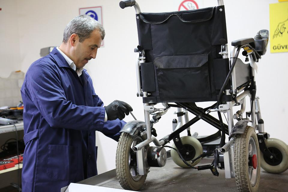 Disabled Vehicle, Maintenance, Wheel, Chair, Disabled