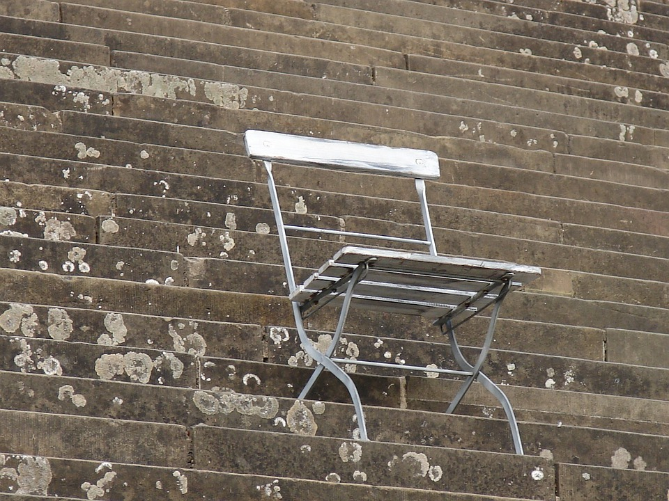 Chair, Folding Chair, Stairs