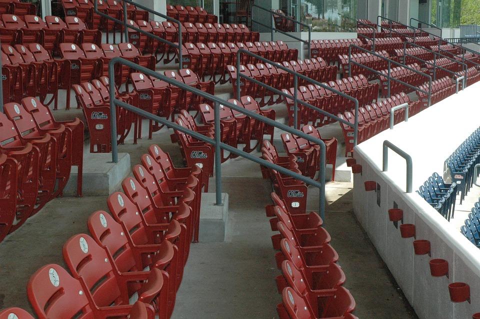 Baseball, Stadium, Chairs