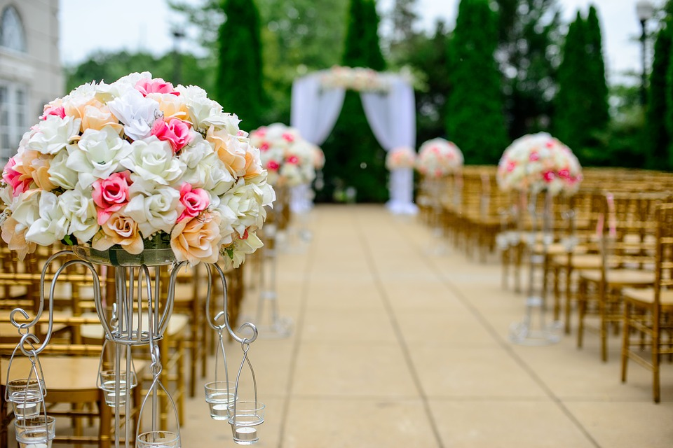 Aisle, Bloom, Blossom, Bouquet, Celebration, Chairs